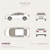 2006 Honda Civic FA Asia Sedan blueprint