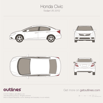 2011 Honda Civic FB US Sedan blueprint