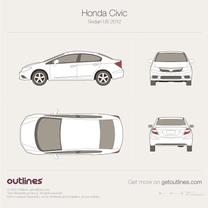 2011 Honda Civic FB US Sedan blueprint