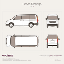 2001 Honda Stepwgn II Minivan blueprint