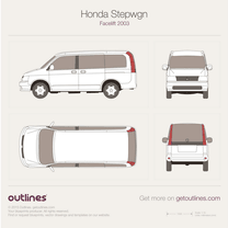 2003 Honda Stepwgn II Facelift Minivan blueprint