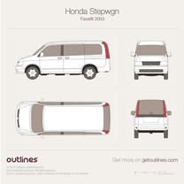 2003 Honda Stepwgn II Facelift Minivan blueprint