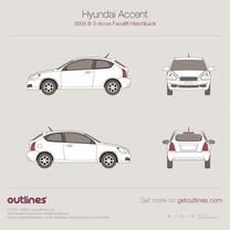 Hyundai Accent blueprint