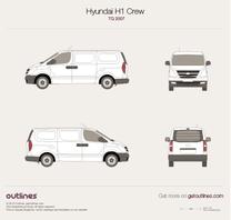 2007 Hyundai H-1 Crew TQ Van blueprint