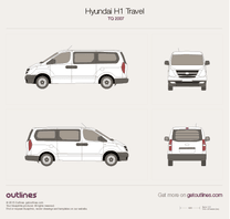 2007 Hyundai Starex Bus blueprint