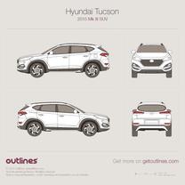 2015 Hyundai Tucson TL SUV blueprint