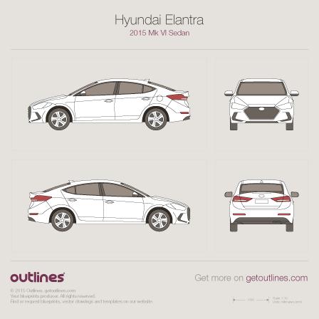 2015 Hyundai Elantra VI Sedan blueprints and drawings