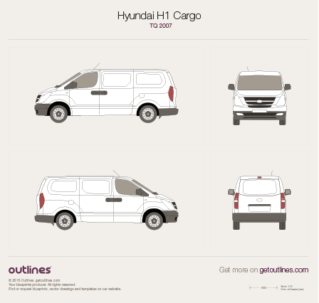 2007 Hyundai Grand Starex Minivan blueprint