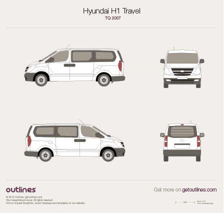 2007 Hyundai Grand Starex Bus blueprint