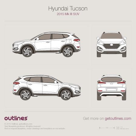 Hyundai Tucson blueprint