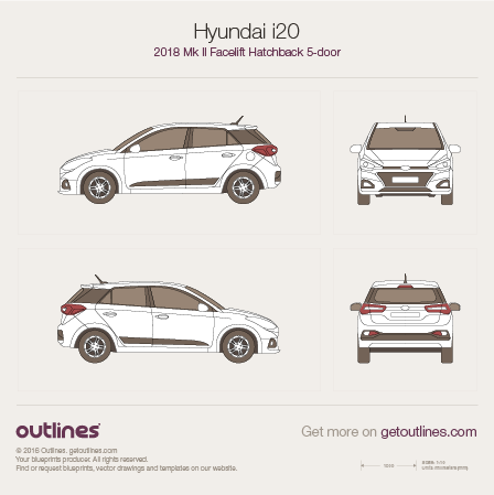 Hyundai i20 blueprint