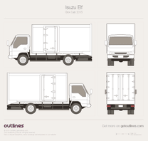 2015 Isuzu Elf Box Cab Heavy Truck blueprint