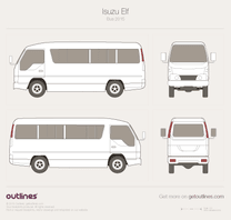 2015 Isuzu N-Series Passenger Bus blueprint