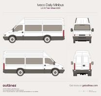 2000 Iveco Daily Minibus L3 H3 Twin Wheel Minivan blueprint