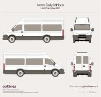 2011 Iveco Daily Minibus L3 H3 Twin Wheel Minivan blueprint