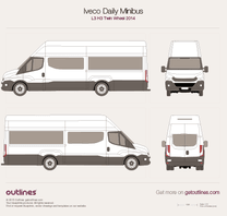2014 Iveco Daily Minibus L3 H3 Twin Wheel Bus blueprint