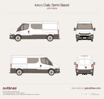 2014 Iveco Daily Semi-Glazed Van L2 H1 Van blueprint