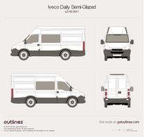 2011 Iveco Daily Semi-Glazed Van L2 H2 Van blueprint