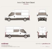 2014 Iveco Daily Semi-Glazed Van L2 H2 Van blueprint