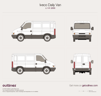 2000 Iveco Daily Van L1 H1 Van blueprint