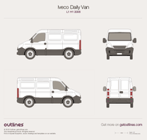 2006 Iveco Daily Van L1 H1 Van blueprint