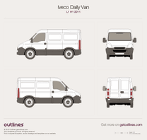 2011 Iveco Daily Van L1 H1 Van blueprint