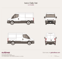 2014 Iveco Daily Van L1 H1 Van blueprint