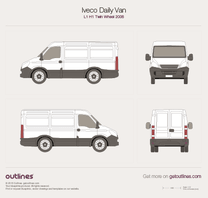 2006 Iveco Daily Van L1 H1 Twin Wheel Van blueprint