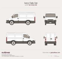 2006 Iveco Daily Van L1 H1 Twin Wheel Van blueprint