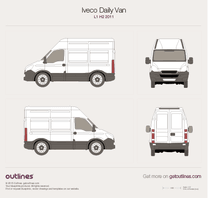 2011 Iveco Daily Van L1 H2 Van blueprint
