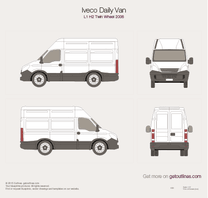 2006 Iveco Daily Van L1 H2 Twin Wheel Van blueprint