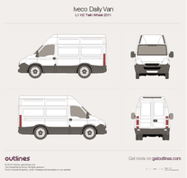 2011 Iveco Daily Van L1 H2 Twin Wheel Van blueprint