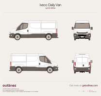 2014 Iveco Daily Van L2 H1 Van blueprint