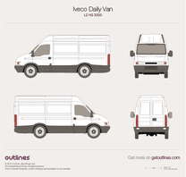 2000 Iveco Daily Van L2 H2 Van blueprint