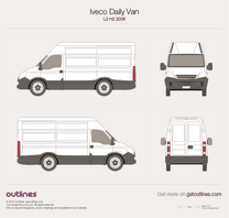 2006 Iveco Daily Van L2 H2 Van blueprint