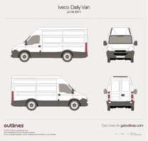 2011 Iveco Daily Van L2 H2 Van blueprint