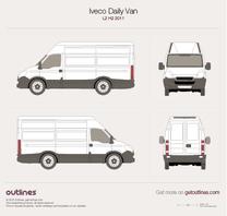 2011 Iveco Daily Van L2 H2 Van blueprint