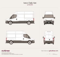 2014 Iveco Daily Van L2 H2 Van blueprint