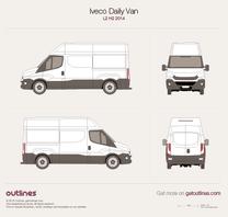 2014 Iveco Daily Van L2 H2 Van blueprint
