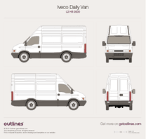 2000 Iveco Daily Van L2 H3 Van blueprint