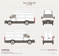 2006 Iveco Daily Van L2 H3 Van blueprint