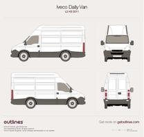 2011 Iveco Daily Van L2 H3 Van blueprint