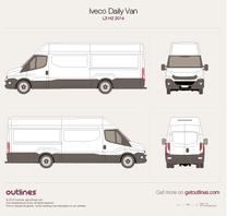 2014 Iveco Daily Van L3 H2 Van blueprint