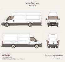 2014 Iveco Daily Van L3 H2 Van blueprint