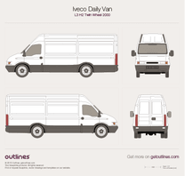 2000 Iveco Daily Van L3 H2 Twin Wheel Van blueprint