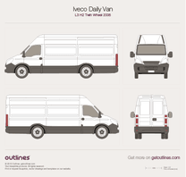 2006 Iveco Daily Van L3 H2 Twin Wheel Van blueprint