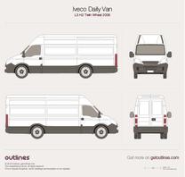 2006 Iveco Daily Van L3 H2 Twin Wheel Van blueprint