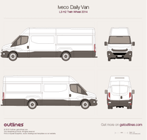 2014 Iveco Daily Van L3 H2 Twin Wheel Van blueprint