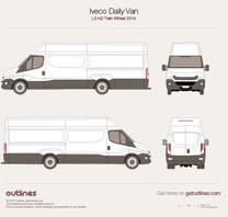2014 Iveco Daily Van L3 H2 Twin Wheel Van blueprint