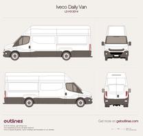 2014 Iveco Daily Van L3 H3 Van blueprint